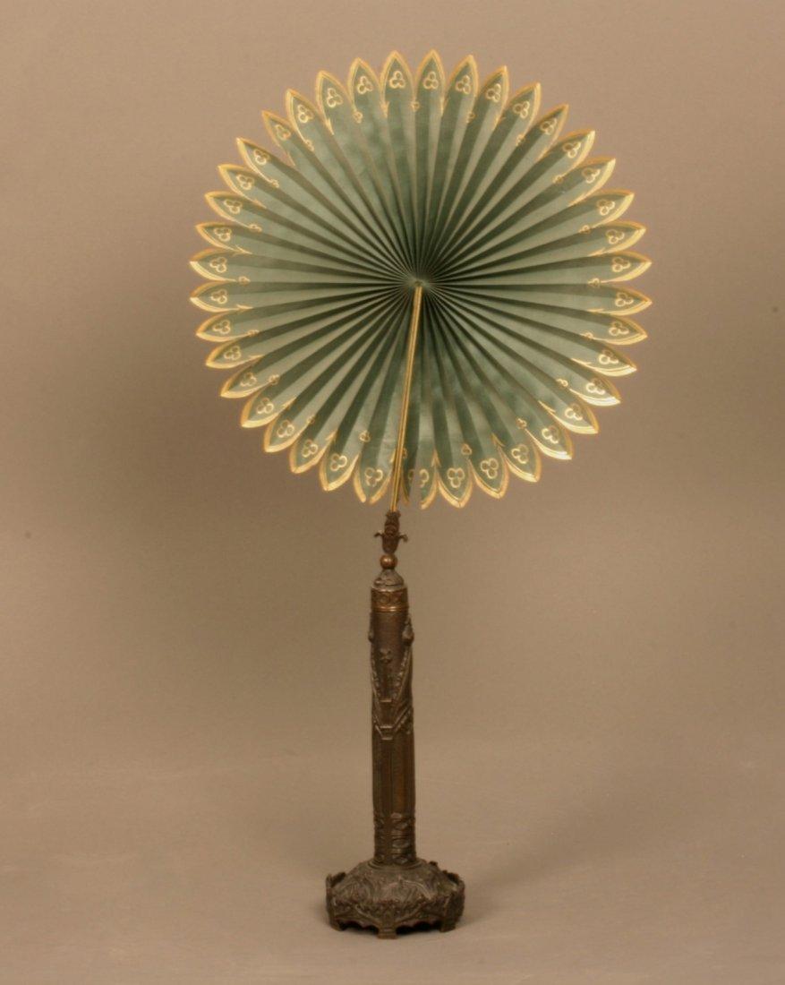 A Rare Victorian Bronze Candle Shade