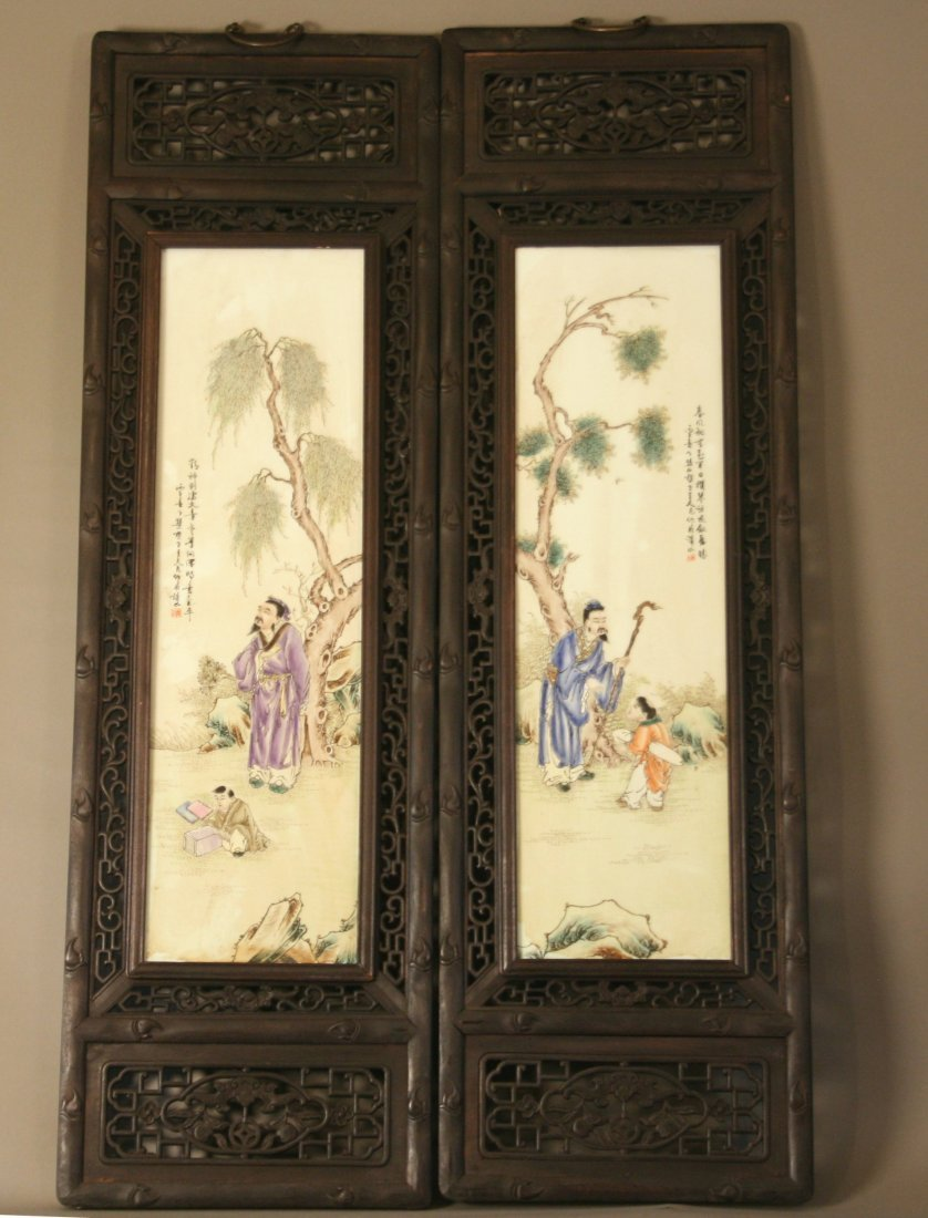 A Set of Four Japanese Panels