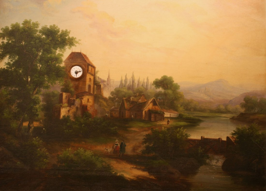 A Sonerie Clock Painting
