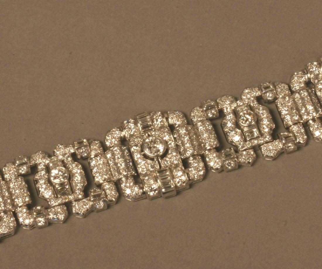 A Fine English Diamond Set Bracelet. Circa 1950