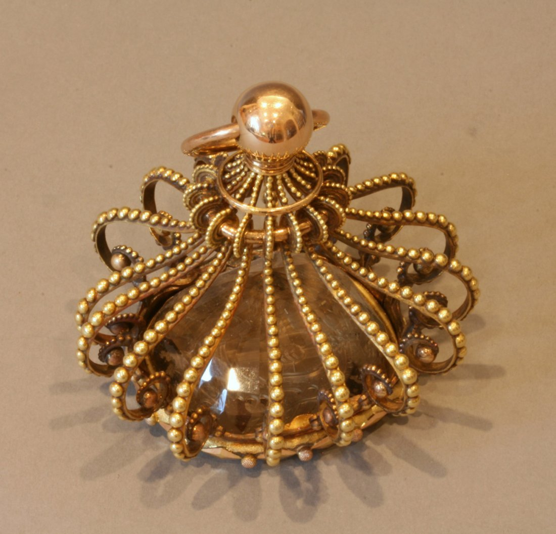 A Fine French 18th Century Gold and Citrine Seal