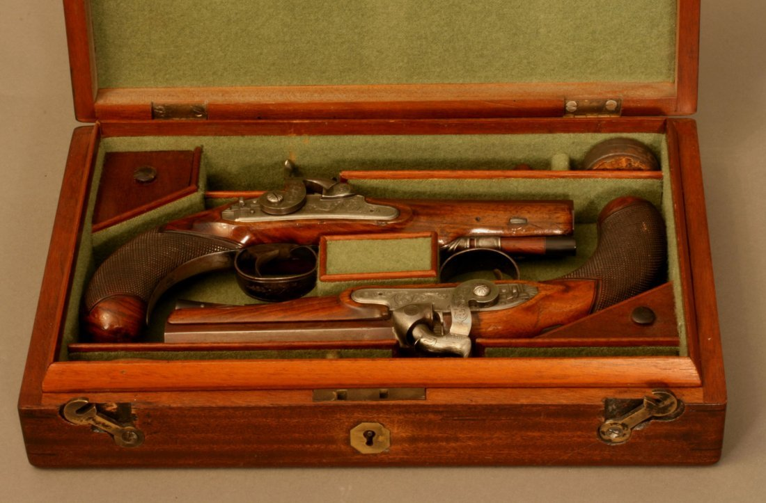 Pair of Percussion Cap Pistols by Cartmell
