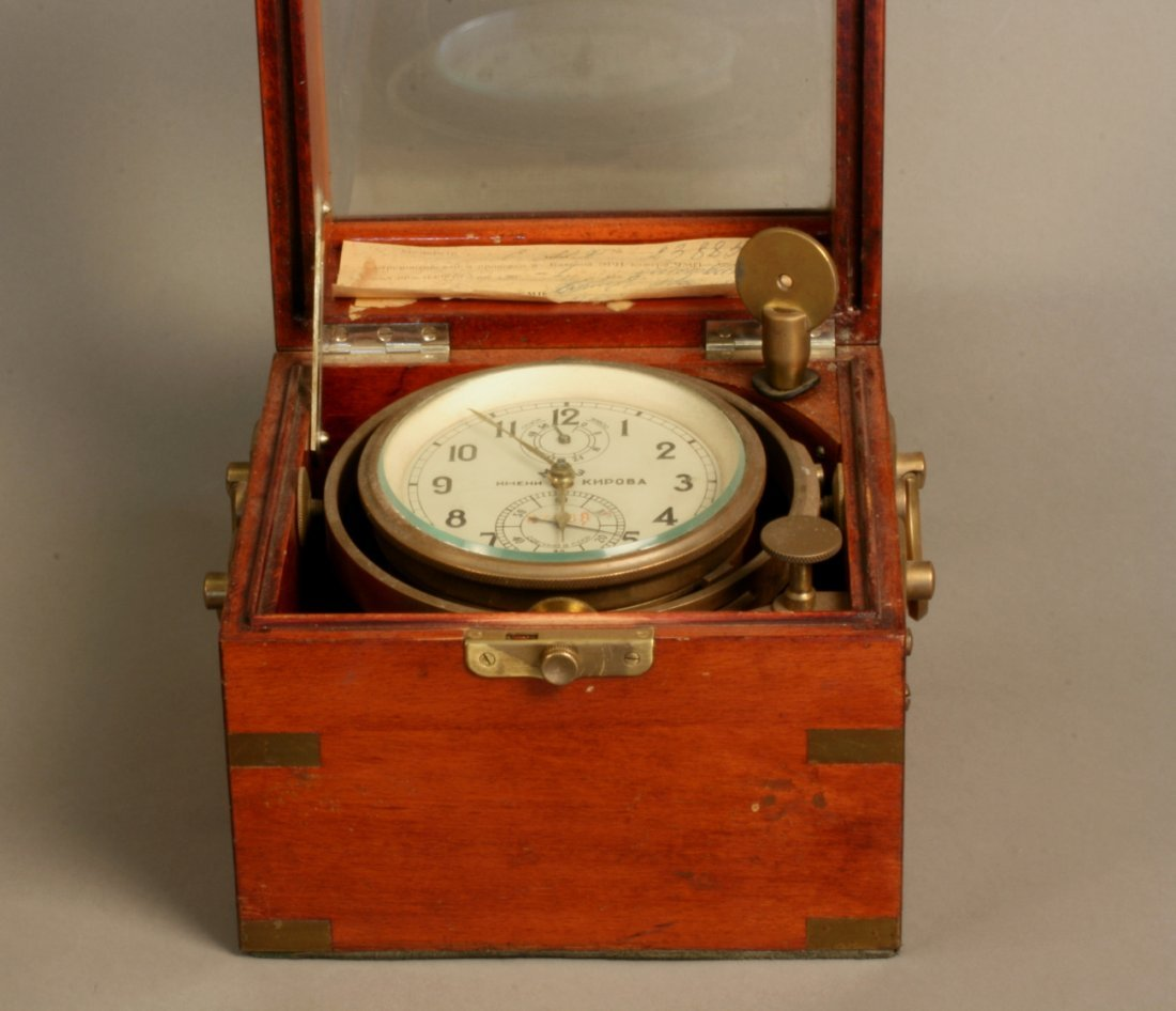 A Soviet Era Brass Ships Chronometer