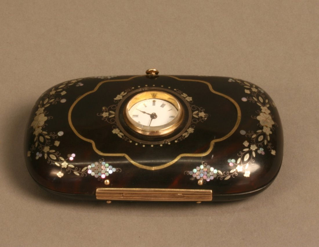 Tortoiseshell and Gold Pique Lady's Purse
