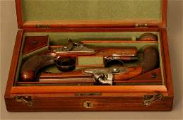 A Fine Pair of Percussion Cap Pistols by Thomas