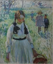 Dorothea Sharp. R.B.A., R. O.I. (1873-1955) Oil on