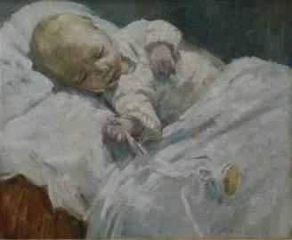 Dorothea Sharp.  ROI RBA (1874-1955). Oil on canvas.
