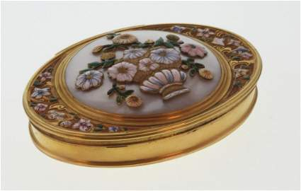 A Fine Gold and Coloured Enamel Box. Probably English