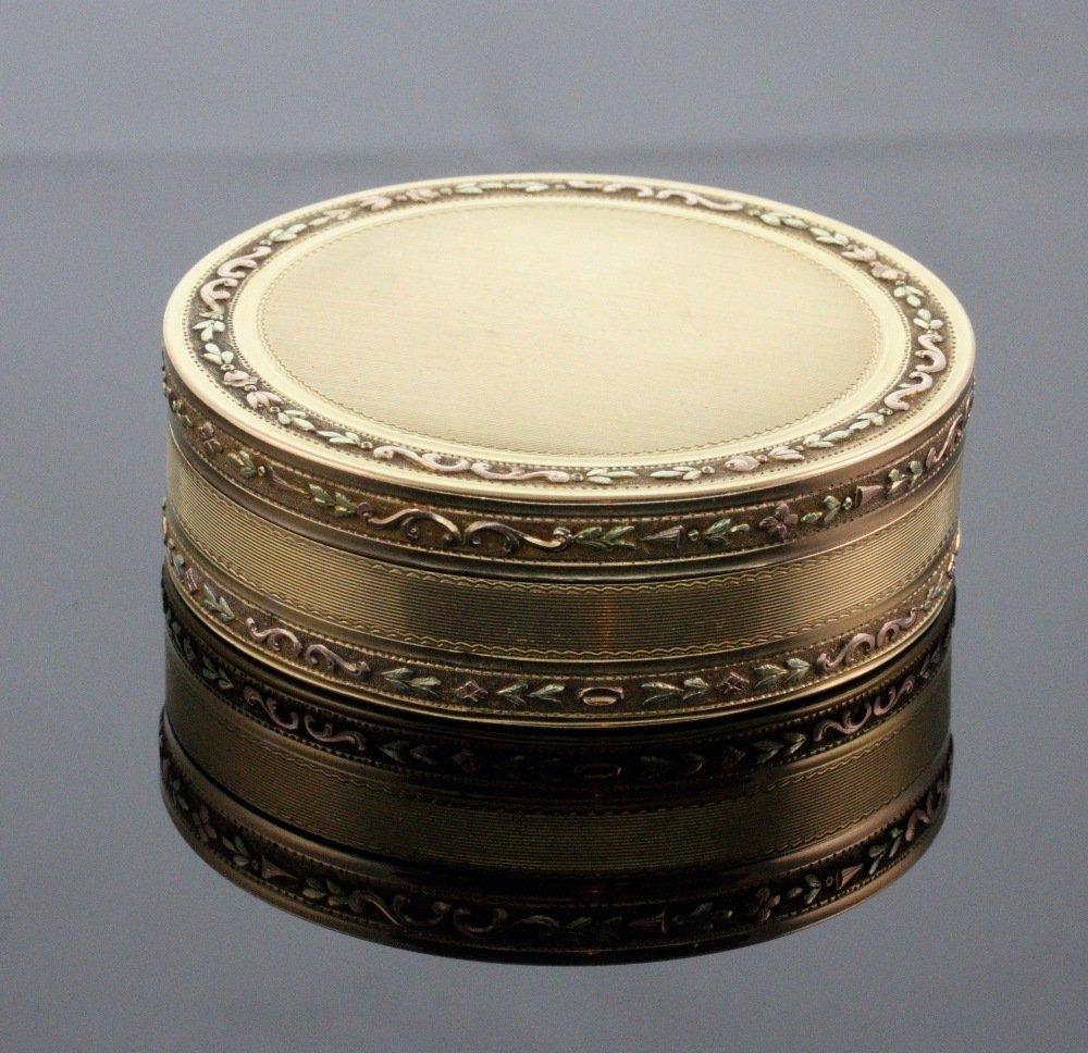 Gold Circular Box