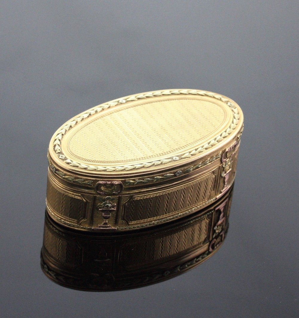 Gold Oval Box