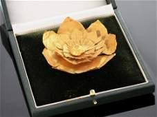 Gold Lotus Leaf