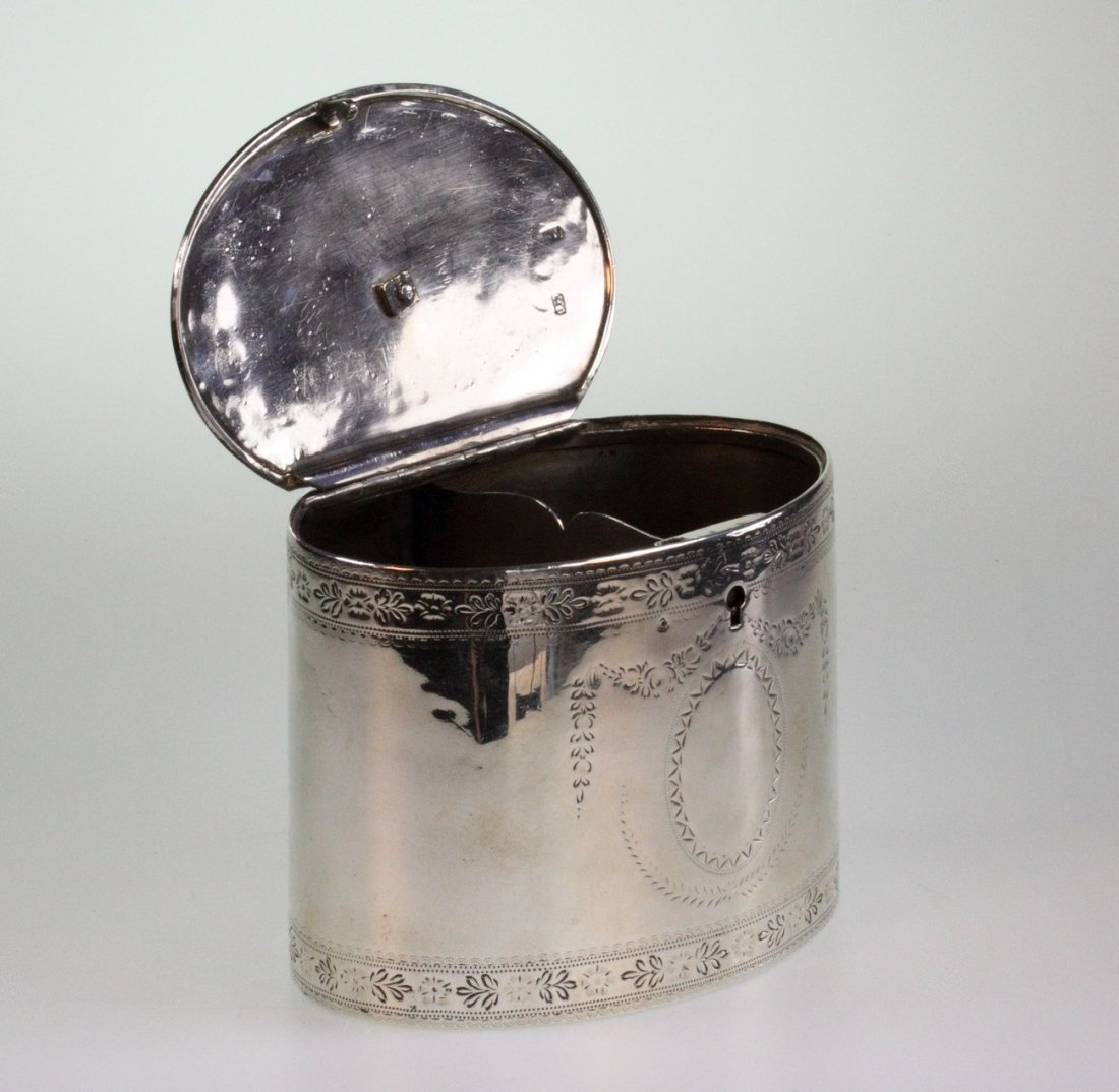 A George III Silver Two Compartment Teacaddy