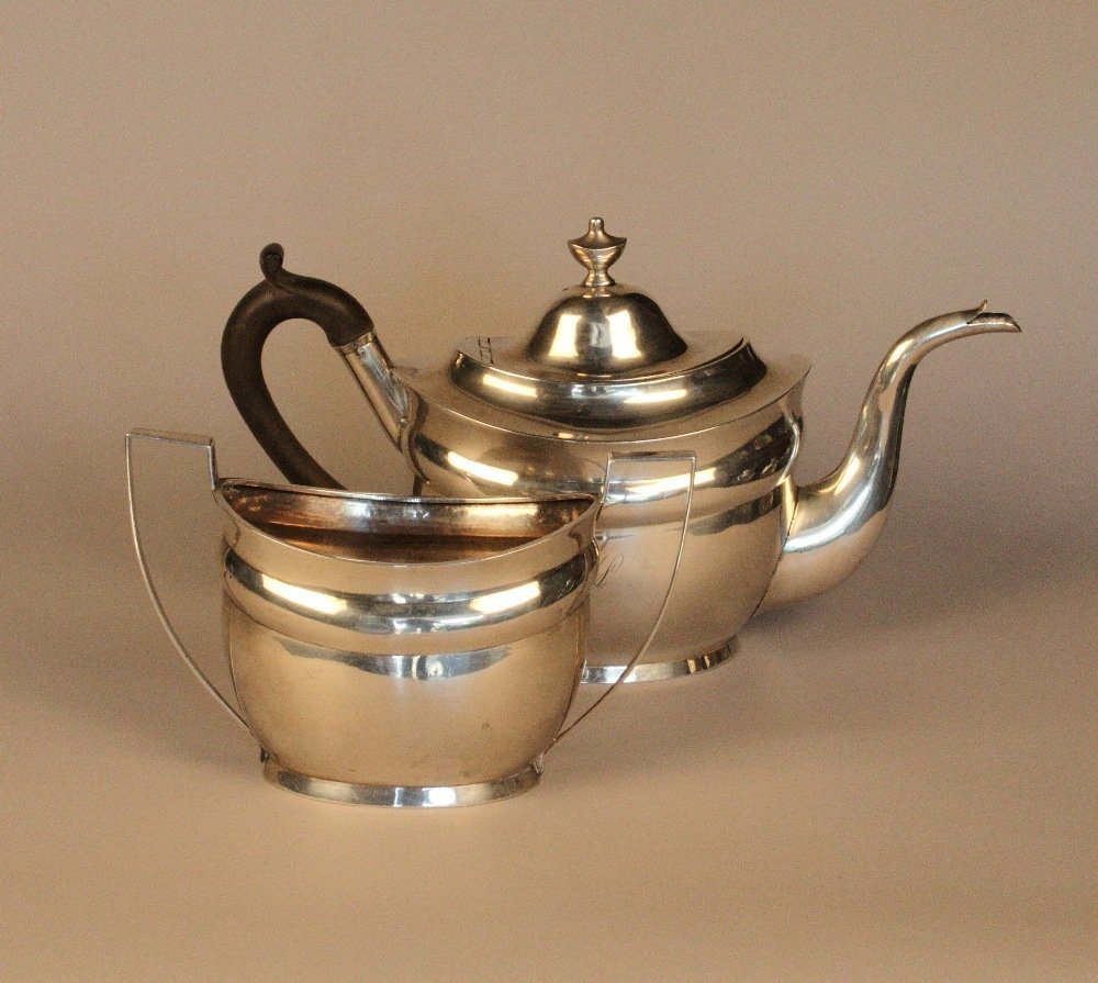 A Rare Early 19th Century American Silver Tea Pot and