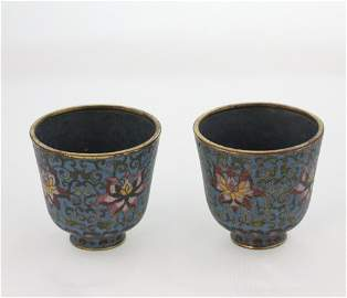 Chinese Cloisonne Wine Cups