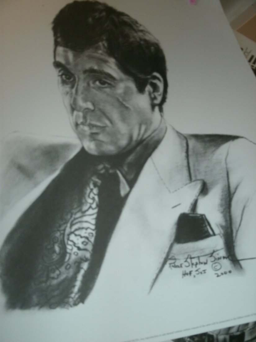 "006: Al Pacino""Scarface""Signed Lithograph by Robert Ste"