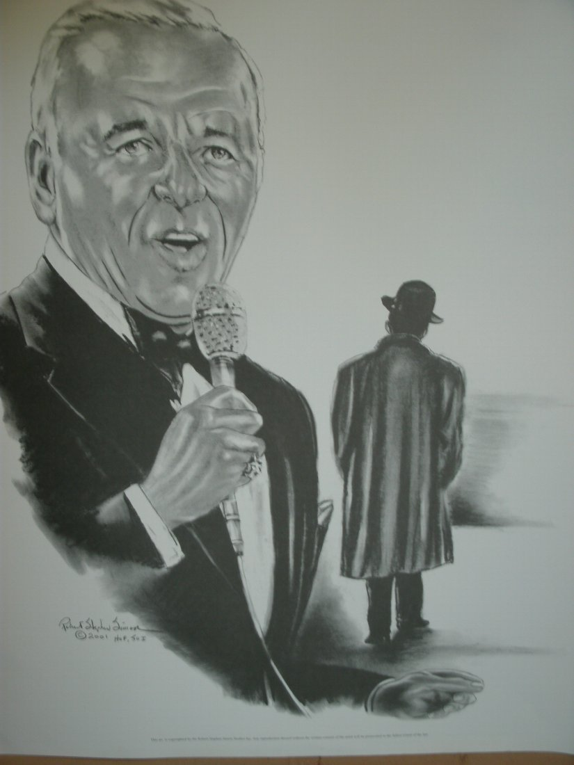 "011: Frank Sinatra""Old Blue Eyes""Signed Lithograph by R"