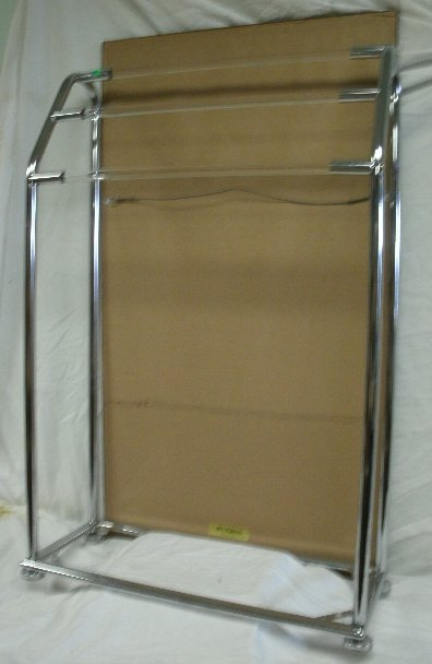137: VINTAGE GENUINE LUCITE AND METAL TOWEL STAND