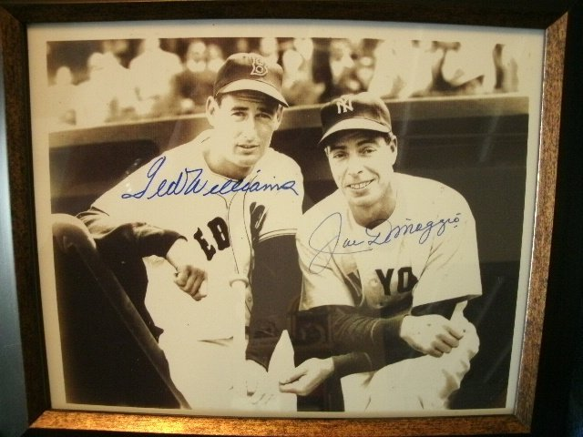 167: Joe Dimaggio & Ted Williams MVP Signed Photo