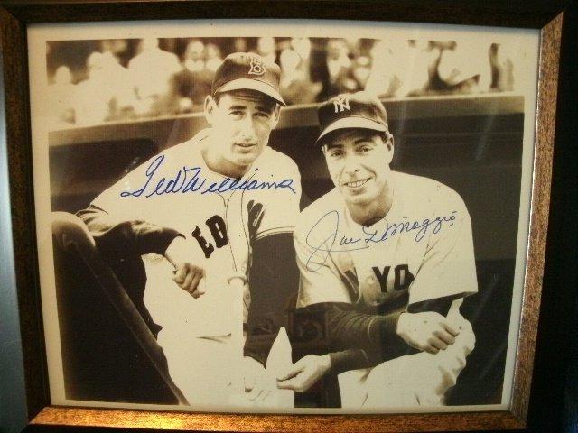 167: Joe Dimaggio & Ted Williams MVP Signed Photo