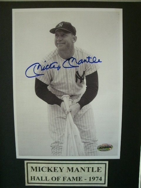 Mickey Mantle Greatest Players of All Time Signed Photo