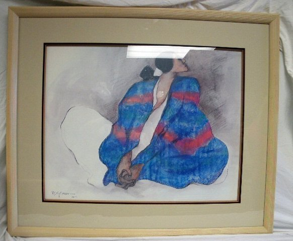 308: Vintage R.C. Gorman Signed & Dated 1977 Painting