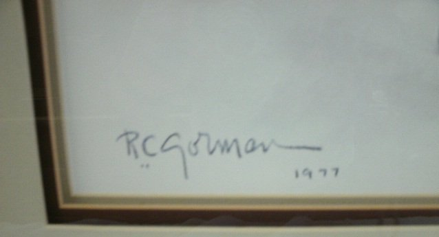 308: Vintage R.C. Gorman Signed & Dated 1977 Painting - 2