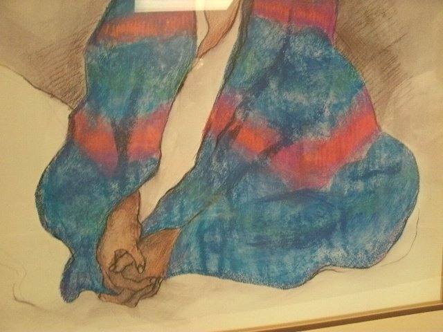 308: Vintage R.C. Gorman Signed & Dated 1977 Painting - 4