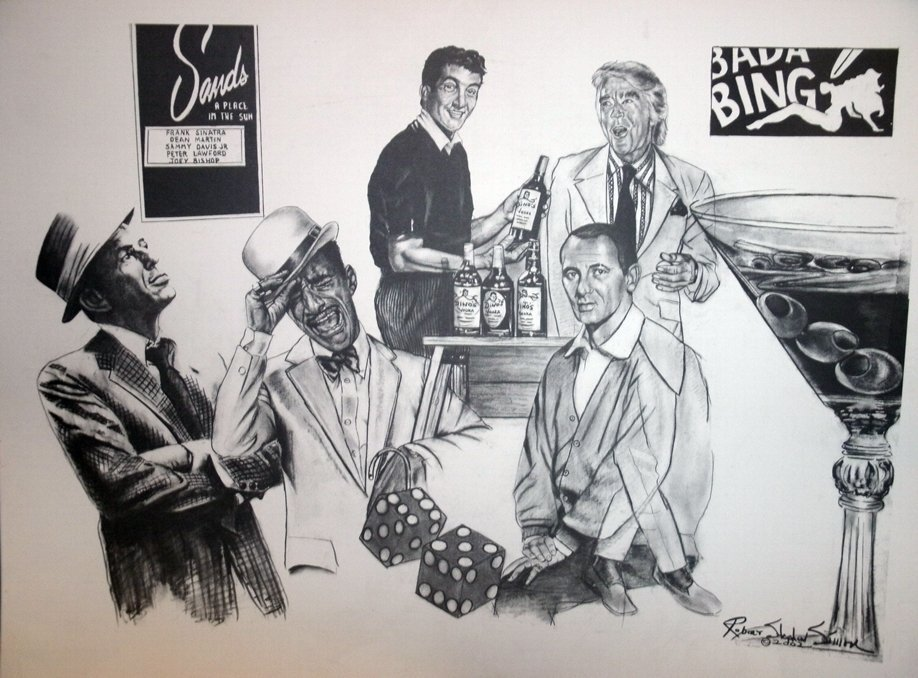 """The """"Rat Pack"""" Signed Lithograph by Robert Stephen"""