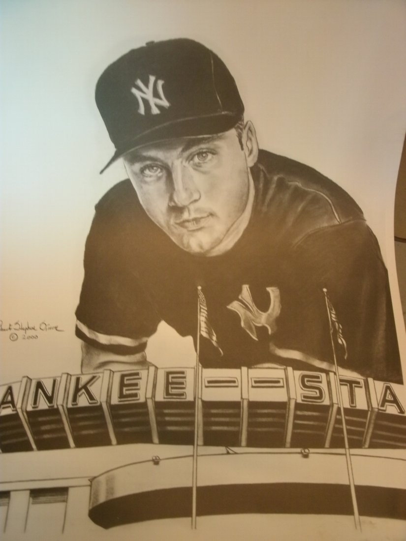Derek Jeter # 2 MVP NY Yankees Signed Lithograph by