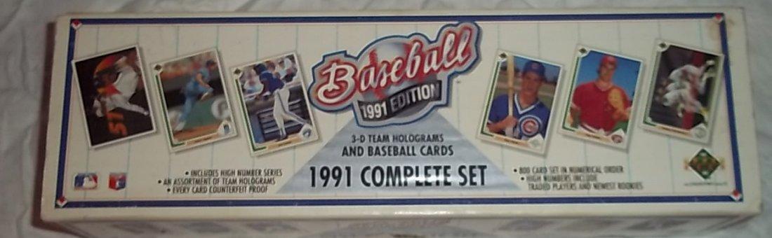Upperdeck 1991 Baseball Edition Complete Set 800 cards