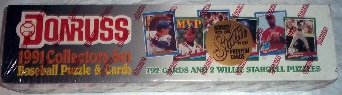 Donruss 1991 Baseball Collectors Set of 792 Cards
