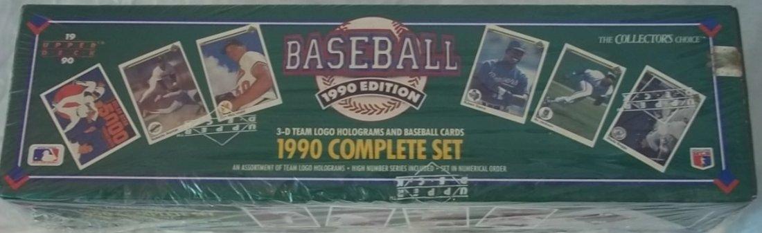 1990 Upperdeck Baseball Cards Complete Set