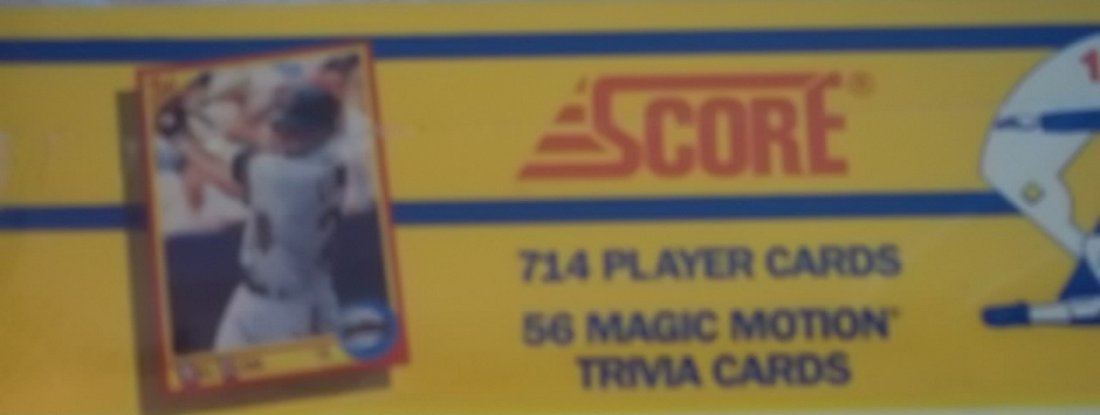 1990 Score Baseball Cards Collector Complete Set - 4