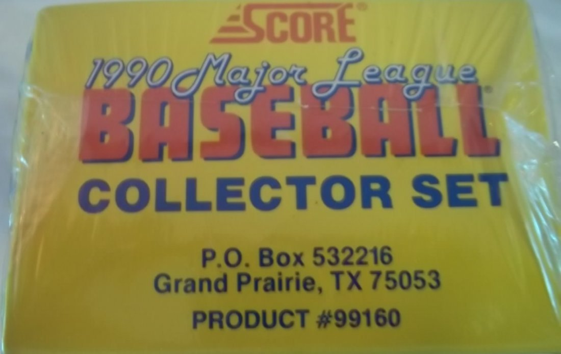 1990 Score Baseball Cards Collector Complete Set - 7