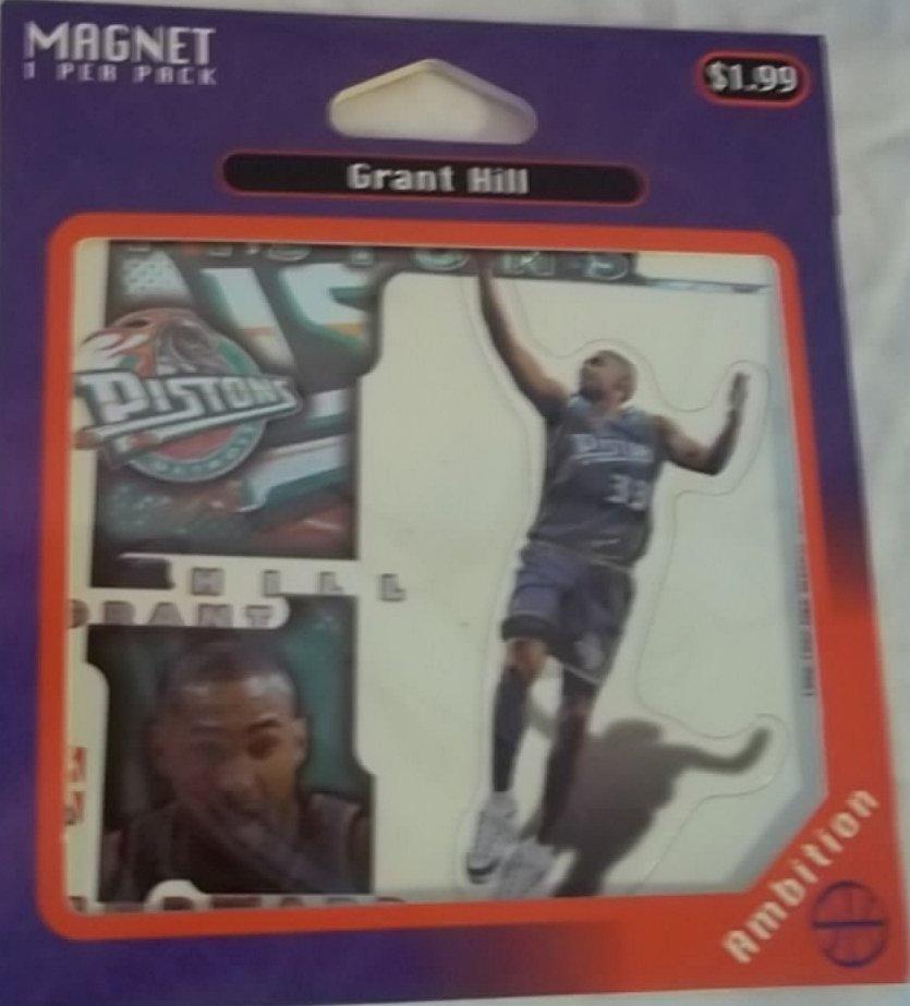 Grant Hill Magnet Pack  Detroit Pistons Player  # 33