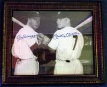 Joe DiMaggio and Mickey Mantle Autographed Photograph
