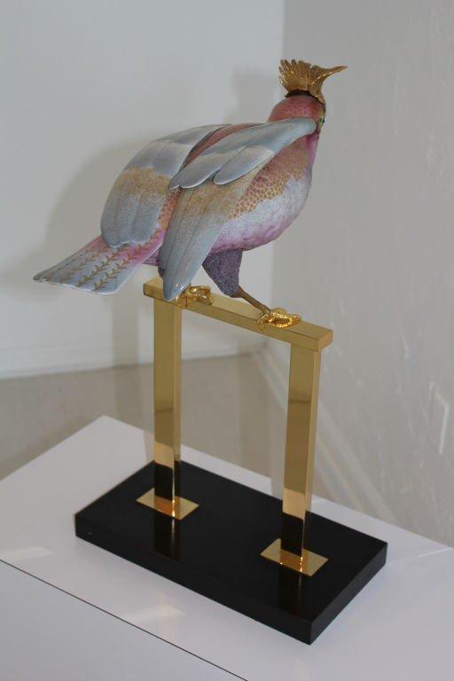 Oggetti Mangani Porcelain Cockatoo Figure  24K Gold - 8