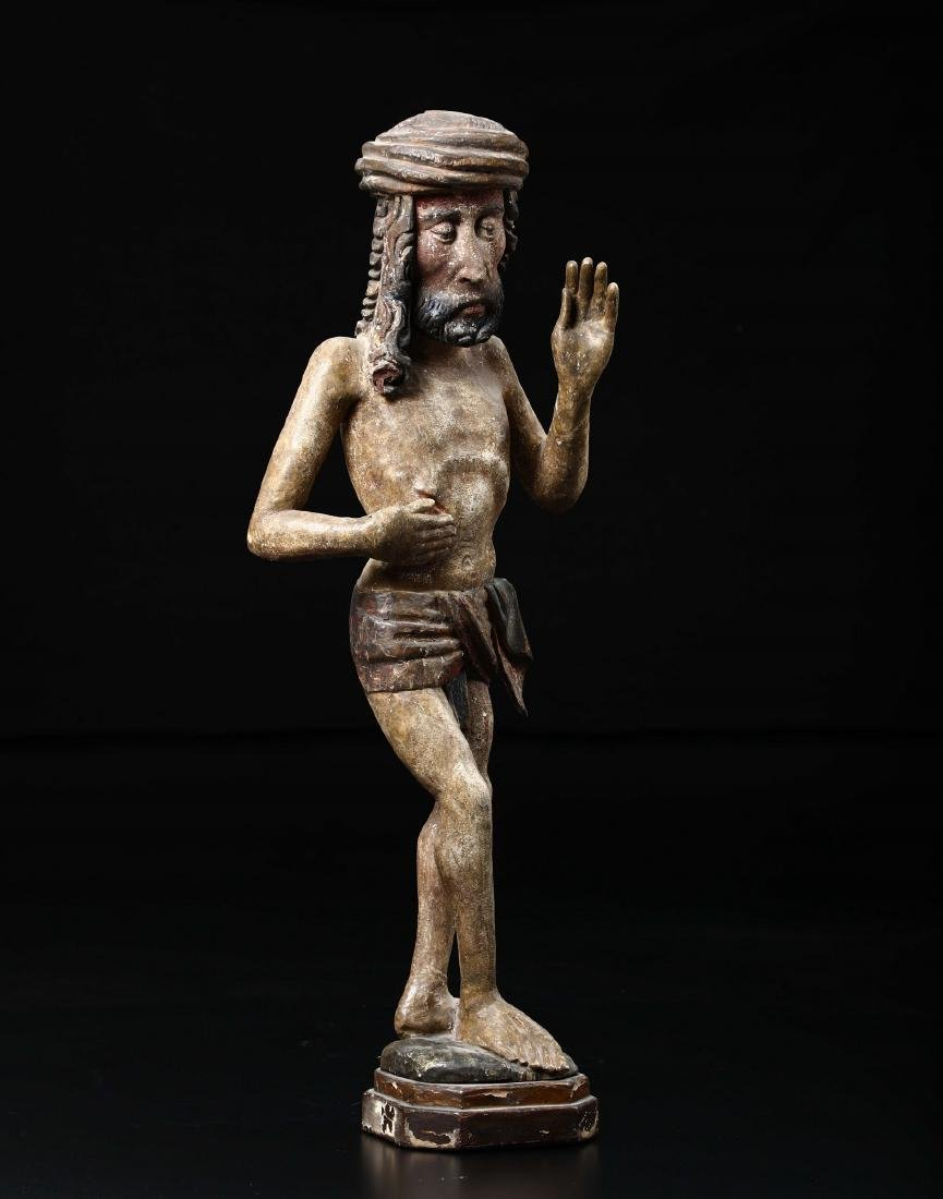 Polychrome wooden sculpture depicting Christ in the act - 2