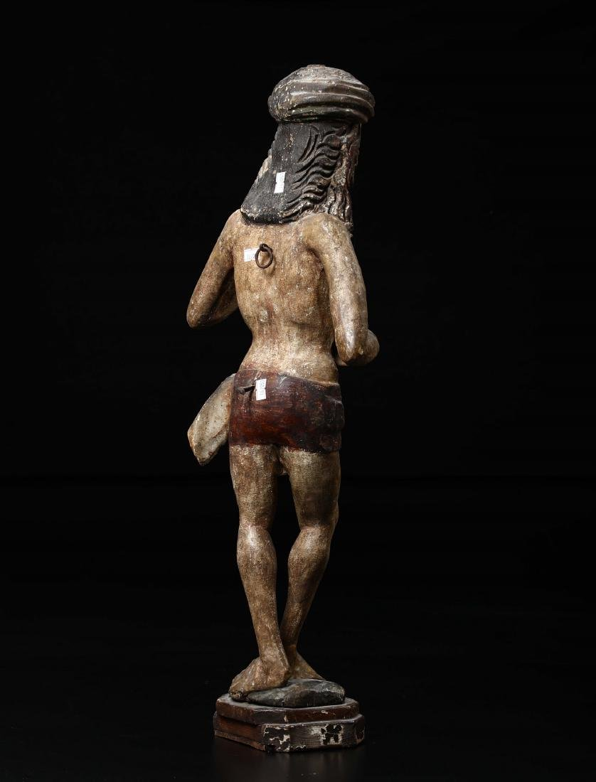 Polychrome wooden sculpture depicting Christ in the act - 3