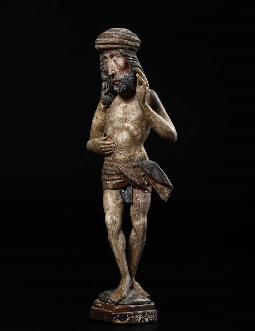 Polychrome wooden sculpture depicting Christ in the act - 4