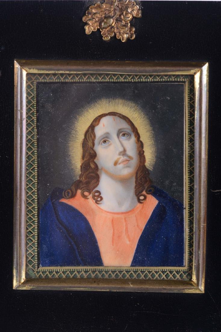 Miniatura su avorio raffigurante Cristo, XIX secolo,