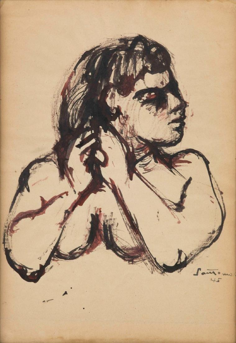 Giuseppe Santomaso (1907-1990), Senza titolo, 1945