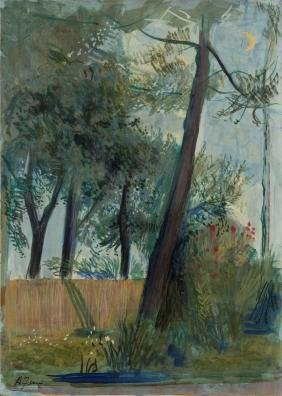 Achille Funi (1890-1972), Forte dei Marmi - Notturno,