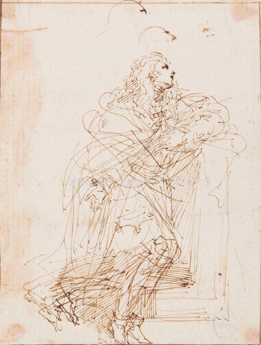Donato Creti (1671-1749), Studio di figura supplicante