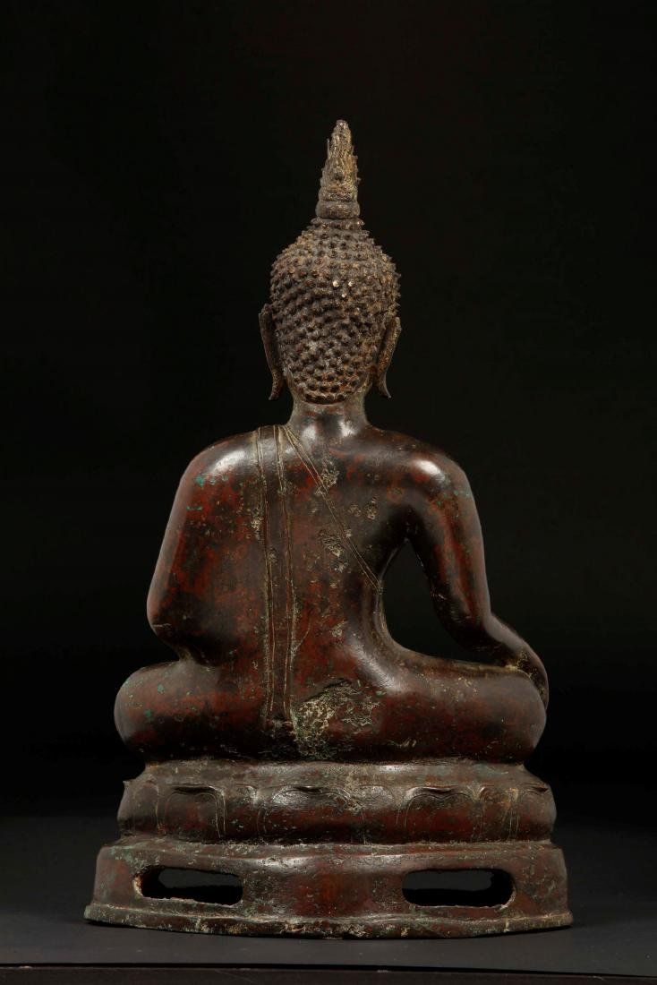 A bronze figure of seated Buddha, Thailand, 17th - 2