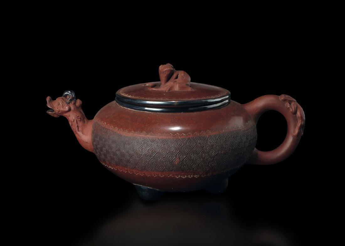 An Yixing teapot with dragon spout, China, Qing
