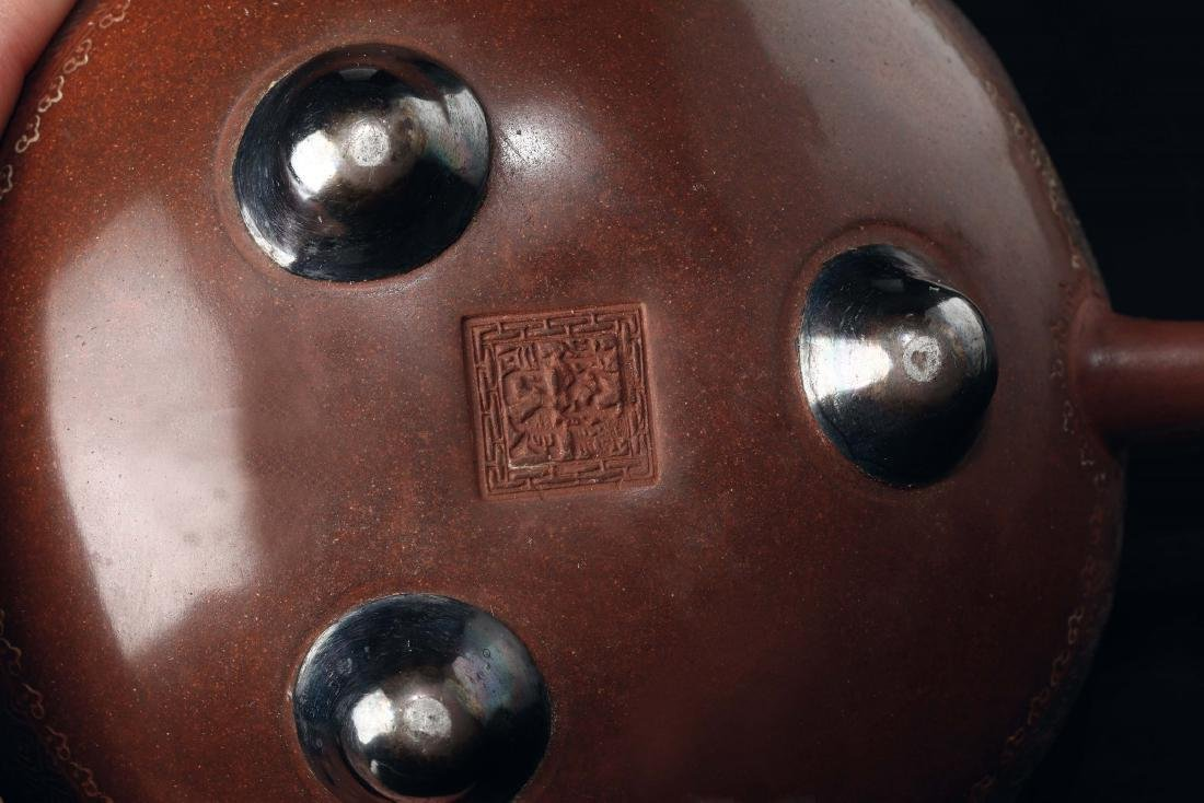 An Yixing teapot with dragon spout, China, Qing - 2