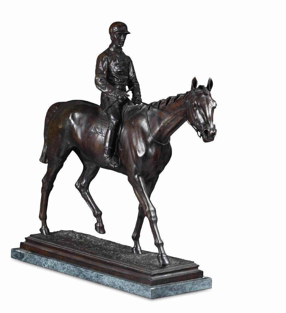 Isidore Jules Bonheur (1827-1901), Cavallo con fantino