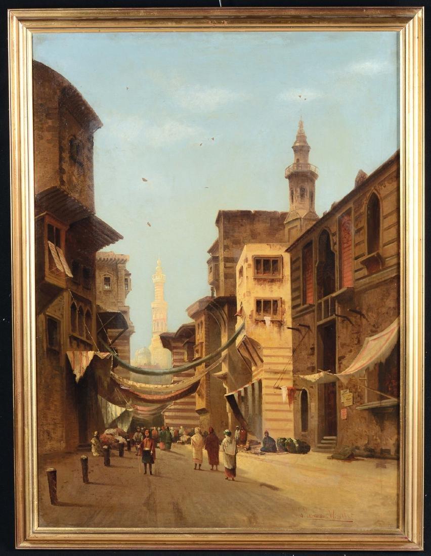 Karl Kaufmann (1843-1902), Veduta del minareto, 1885