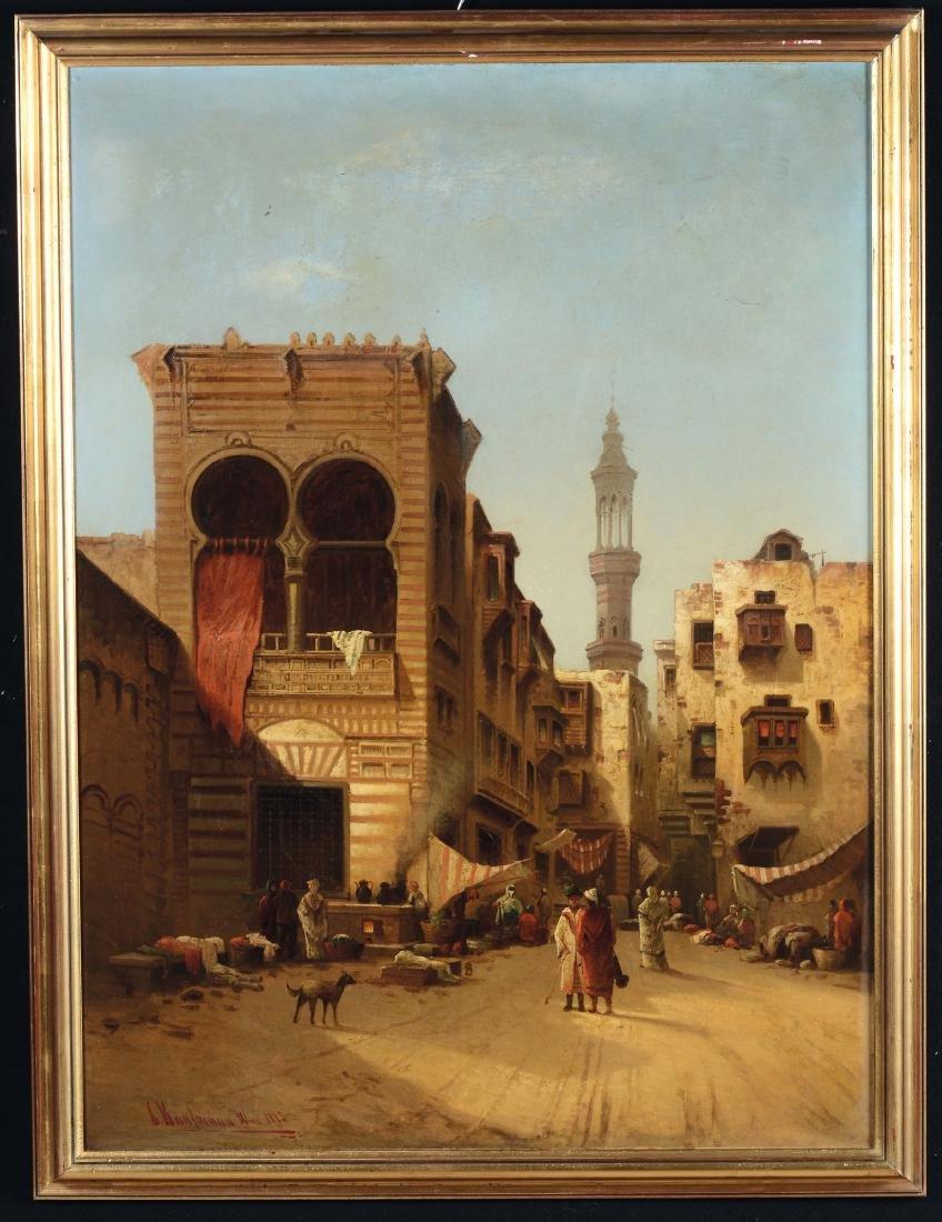 Karl Kaufmann (1843-1902), Veduta di un vicolo del
